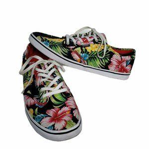 Vans 9.5 Tropical Hawaiian Floral Skate Slim Sole